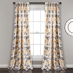 Lush Decor 2-pack Aromo Garden Room Darkening Window Curtain