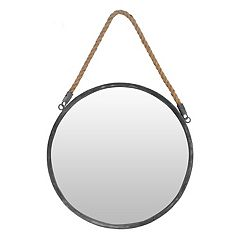 The Gallery Collection Industrial Coastal Round Wall Mirror
