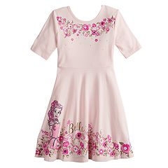 Disney's Belle Girls 4-12 Glittery Skater Dress by Jumping Beans®