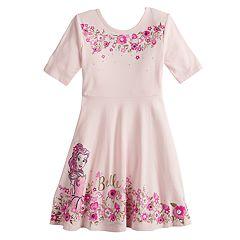 9972ab810d730 Disney s Belle Girls 4-12 Glittery Skater Dress by Jumping Beans®