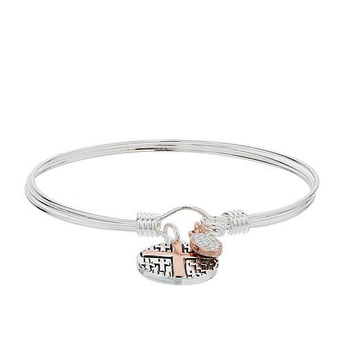 "Grace and Gratitude ""Get Connected"" Crystal Bangle Bracelet"