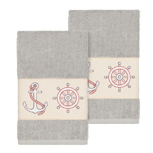 'Linum Home Textiles Turkish Cotton Easton Embellished Hand Towel Set