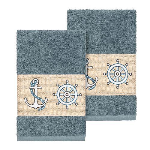 Linum Home Textiles Turkish Cotton Easton Embellished Hand Towel Set