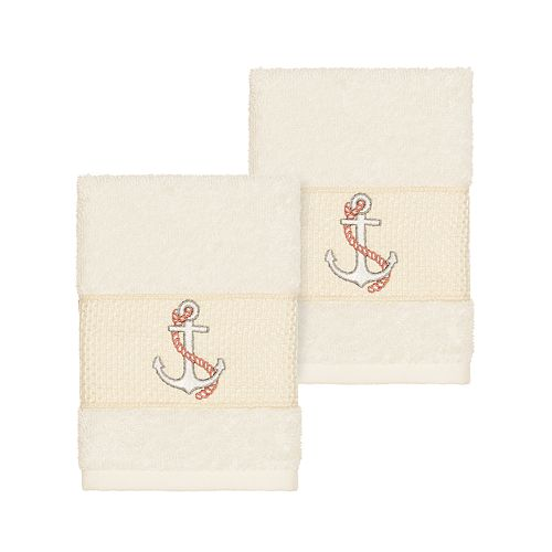 Linum Home Textiles Turkish Cotton Easton Embellished Washcloth Set