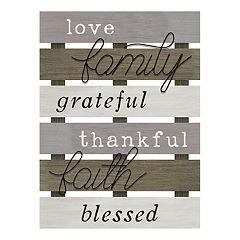 Stratton Home Decor Rustic 'Blessed' Wall Decor