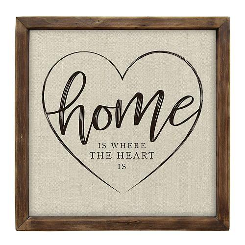 """Stratton Home Decor Rustic """"Home"""" Wall Decor"""