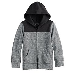 Boys 4-12 Jumping Beans® Marled Colorblock Zip Sweater
