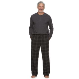 Men's Croft & Barrow® Henley & Plaid Flannel Lounge Pants Gift Set