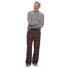 Men's Croft & Barrow® Sleep Sleep henley & Plaid Flannel Sleep Pants Gift Set