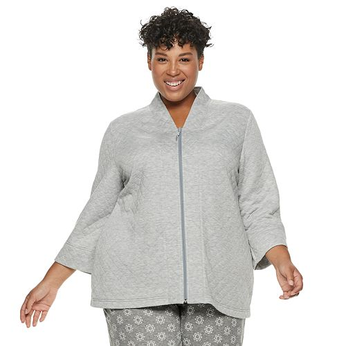 Plus Size Croft & Barrow® Quilted Bed Jacket