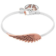 Grace and Gratitude 'His Love Gives Me Wings To Soar' Crystal Bangle Bracelet