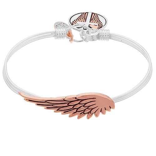 """Grace and Gratitude """"His Love Gives Me Wings To Soar"""" Crystal Bangle Bracelet"""