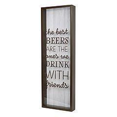 New View 'Best Beers' Cork & Bottle Cap Catcher Table Decor