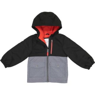 Boys 4-7 Carter's Colorblock Heavyweight Hooded Jacket