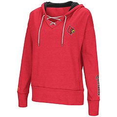 Women's Louisville Cardinals Rhymes Lace-Up Hoodie