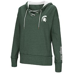 Women's Michigan State Spartans Rhymes Lace-Up Hoodie