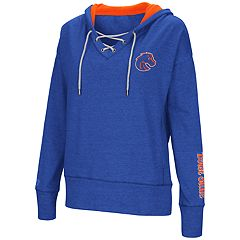 Women's Boise State Broncos Rhymes Lace-Up Hoodie