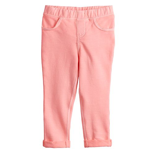 Baby Girl Jumping Beans® Solid Roll-Cuff Jeggings