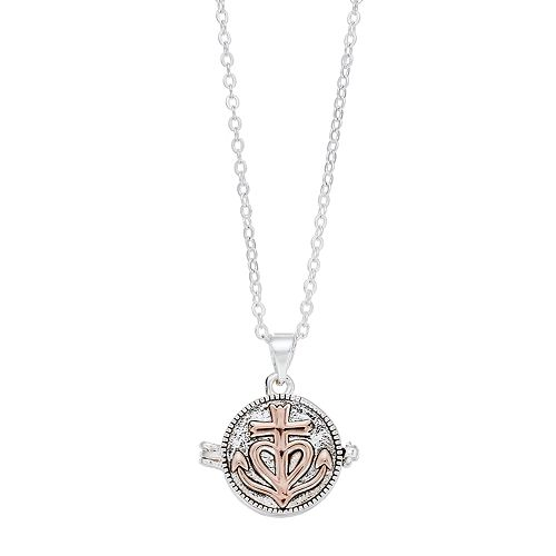 """Grace and Gratitude """"Let Your Faith Be Bigger Than Your Fear"""" Locket Necklace"""