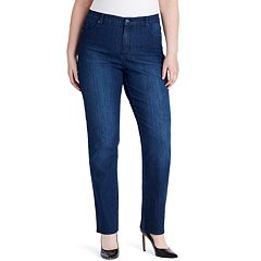 Plus Size Gloria Vanderbilt Amanda Embellished High-Waisted Tapered Jeans