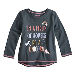 Toddler Girl Jumping Beans® Unicorn Long Sleeve Graphic Tee