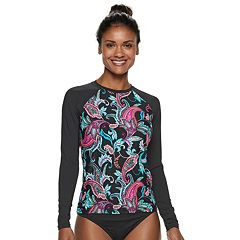 Women's Apt. 9® Paisley Rash Guard