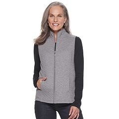Women's Croft & Barrow® Quilted Knit Vest