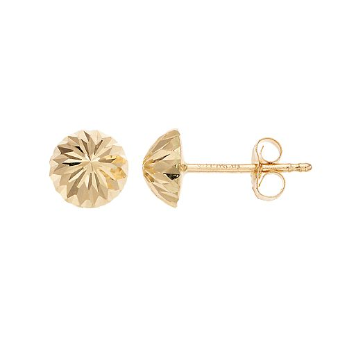 Forever 14K Dome Stud Earrings