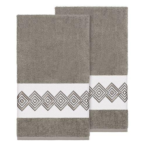 Linum Home Textiles Turkish Cotton Noah Embellished Bath Towel Set