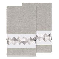 Linum Home Textiles Turkish Cotton Noah Embellished Bath Towel Set