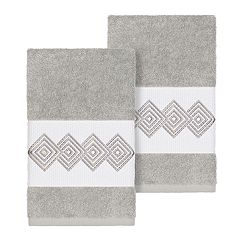 Linum Home Textiles Turkish Cotton Noah Embellished Hand Towel Set