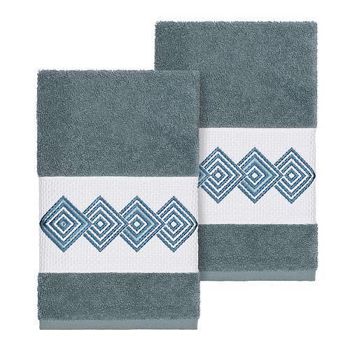 Linum Home Textiles Turkish Cotton Noah Embellished Hand Towel Set