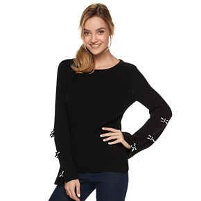 Women's ELLE? Bow-Sleeve Sweater