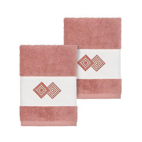 Linum Home Textiles Turkish Cotton Noah Embellished Washcloth Set