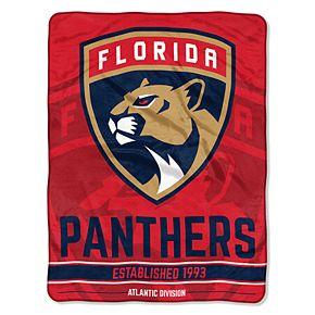 "Florida Panthers 60"" x 46"" Raschel Throw Blanket"