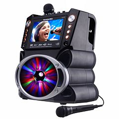 Karaoke USA GF846 Complete Bluetooth Karaoke System with LED Sync Lights
