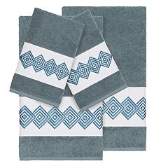 Linum Home Textiles Turkish Cotton Noah 4-piece Embellished Towel Set