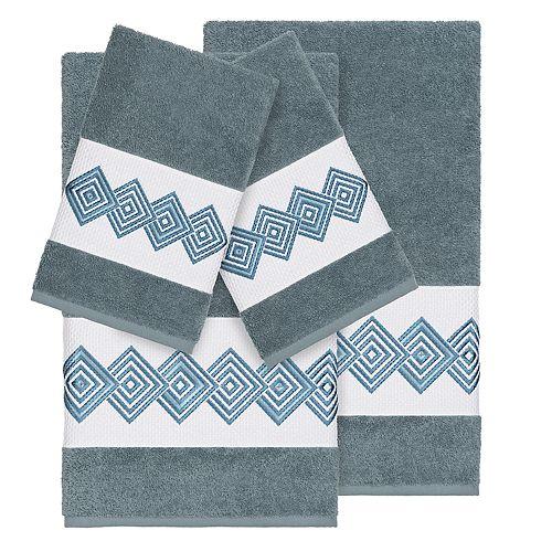 Linum Home Textiles Turkish Cotton Noah 4-piece Embellished Towel Set