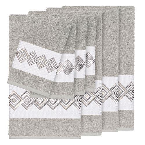 Linum Home Textiles Turkish Cotton Noah 8-piece Embellished Towel Set