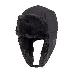 Men's Faux-Fur Trapper Hat with Bluetooth Technology