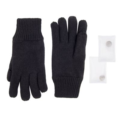 Men's Exact Fit Knit Gloves with Reusable Built-in Hand Warmers