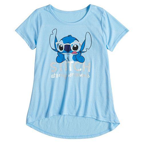"Disney's Girls 7-16 Stitch ""Ate My Homework"" Graphic Tee"