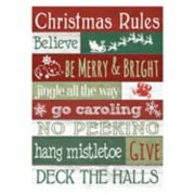 """Rules"" Christmas Wall Decor"