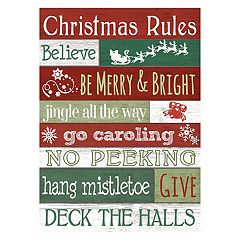 'Rules' Christmas Wall Decor