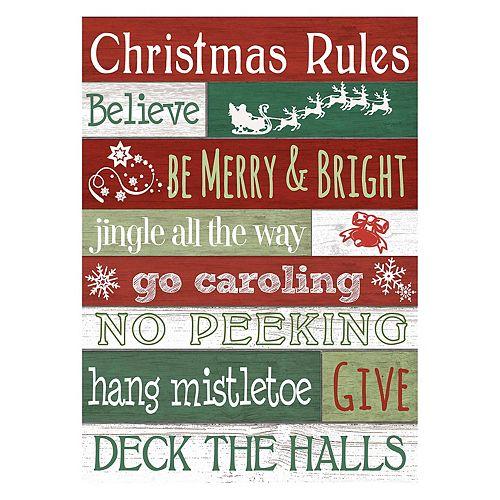 """""""Rules"""" Christmas Wall Decor"""