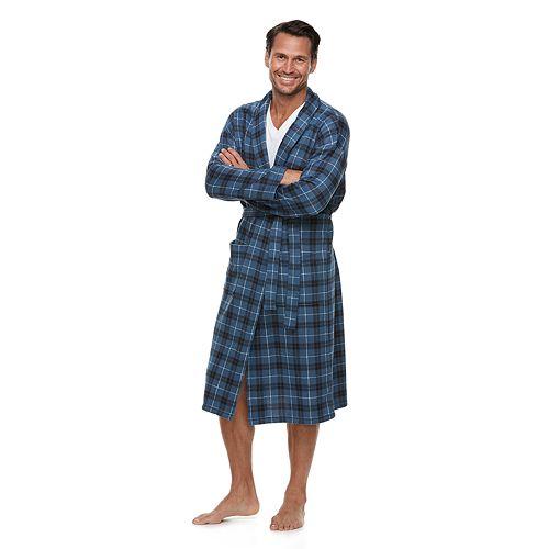 Men's Croft & Barrow® Plaid Sweater Fleece Robe