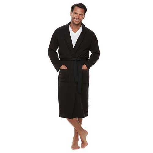 Men's Croft & Barrow® Solid Sweater Fleece Robe