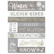 """Winter Is The Season"" Wall Decor"