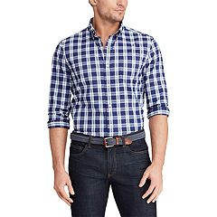 Big & Tall Chaps Classic-Fit Patterned Performance Button-Down Shirt