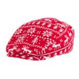Wembley Red Reindeer Fairisle Ivy Cap